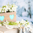 Постер, плакат: Beautiful spring composition with snowdrops