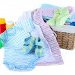 Pile of baby clothes isolated on white — Stock Photo #41235939