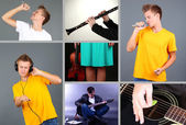 Music Collage — Stock Photo
