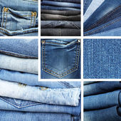 Jeans collage — Stock Photo