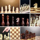 Collage of chess game — Foto de Stock