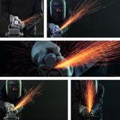 Welding collage — Stock Photo