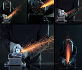 Welding collage — Foto de Stock