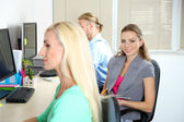 Business people at work place — Stock Photo