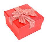 Caja de regalo aislado en blanco — Foto de Stock