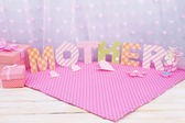 Mother- lettering of handmade paper letters  — Stock Photo