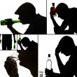 Collage of alcoholism close-up — Stock Photo #41337943