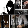 Stok fotoğraf: Collage of alcoholism close-up