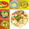 Collage of fun food for kids — Stock Photo #41338017
