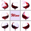 Red wine collage — Stock Photo