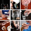 Collage of alcoholism close-up — Stock Photo #41338129