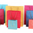 Colorful shopping bags, isolated on white — Stock Photo #41341503