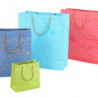 Stock Photo: Colorful shopping bags, isolated on white