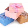 Gift boxes isolated on white — Stock Photo #41342805