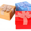 Stock Photo: Gift boxes isolated on white