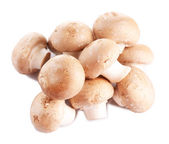 Fresh mushrooms isolated on white — Stock Photo