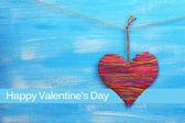 Decorative heart on wooden background — ストック写真