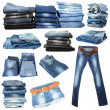 Jeans collage isolated on white — Stok Fotoğraf #41510947