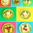 Collage of fun food for kids — Stock Photo #41510963
