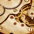Clockwork details, pinions and wheels closeup — Stock Photo #41511097