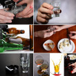 Collage of alcoholism close-up — Stock Photo #41511395