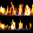 Fire on black background — Stock Photo #41511535