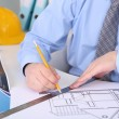 Stock Photo: Architect working at office