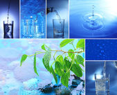 Collage of mineral water — Stock Photo