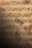 Musical notes close-up — Stock Photo