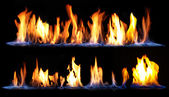 Fire on black background — Stock Photo