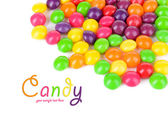 Different colorful fruit candy isolated on white — Stock Photo