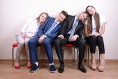 Business people waiting for job interview — Stock Photo