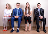 Business people waiting for job interview — Foto Stock