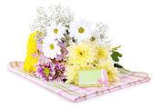 Beautiful chrysanthemum flowers isolated on white — Foto Stock