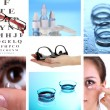 Stock Photo: Collage of equipment for good vision close-up