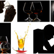 Collage of alcoholism close-up — Stock Photo #41682919
