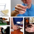 Collage of alcoholism close-up — Stock Photo #41682929
