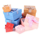 Presentförpackning isolerad på vit — Stockfoto