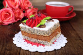 Tasty cakes on table close-up — Stock Photo