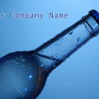 Stock Photo: Water bottle on blue background