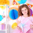 Pretty little girl celebrate her birthday — Stock Photo #41765375