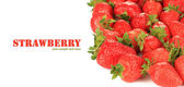 Fresh strawberry isolated on white — Stock fotografie