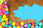 木製の背景に夢を持つの用紙の星 — ストック写真