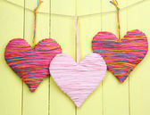 Decorative heart on wooden background — 图库照片