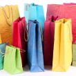 Colorful shopping bags, isolated on white — Stock Photo