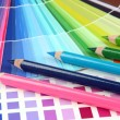 Stock Photo: Color samples with pencils close up