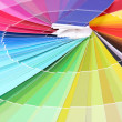 Stock Photo: Paper palette close up