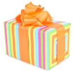 Gift box isolated on white — Stock Photo