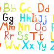 Stock Photo: Alphabet watercolors isolated on white