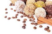 Zestaw cukierki czekoladowe z bliska — Zdjęcie stockowe